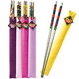 韓国 袋付ステンレス箸 5本セット